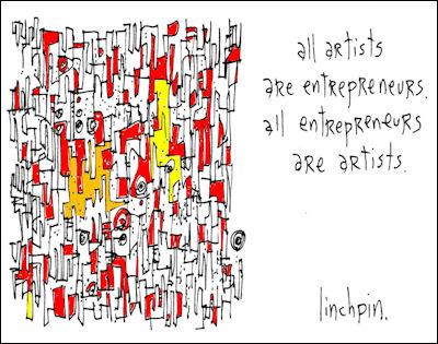 all artists are entrepreneurs. all entrepreneurs are artists
