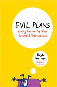 "my new book: ""evil plans"""