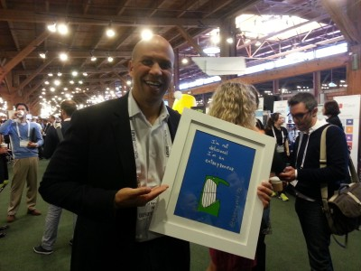 Prints Make Great Speaker Gifts (Newark Mayor Cory Booker @TCDisrupt)