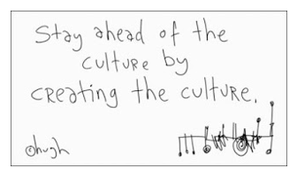 Stay ahead of corporate culture cartoon