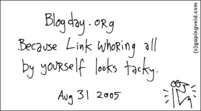 happy blog day today!