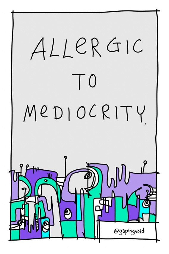 allergic-to-mediocrity-24x36