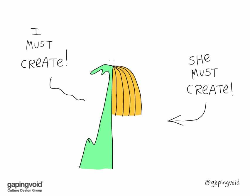 I must create! she must create!
