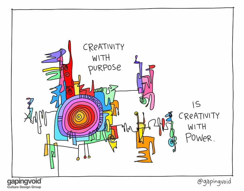 creativity with purpose is creativity with power